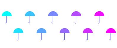 canvas实现舞动的雨伞效果