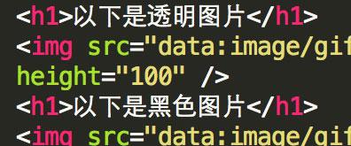 Base64 Encode编码实现1x1px透明(黑白)图片