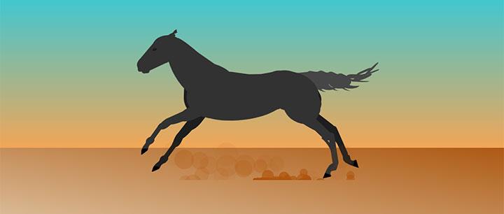 css3绘制马儿奔跑动画特效