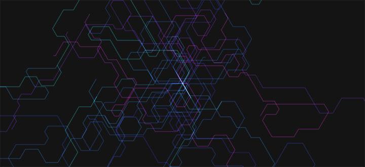 html5 canvas科技感网状3D空间动画特效