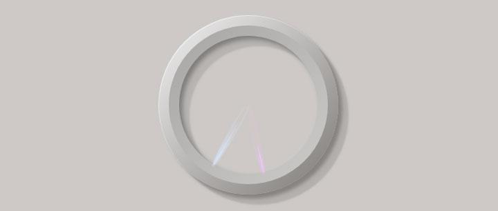 jQuery 3D质感圆环指针时钟特效