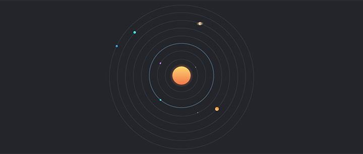 jQuery太陽星系軌道行星運行動畫特效