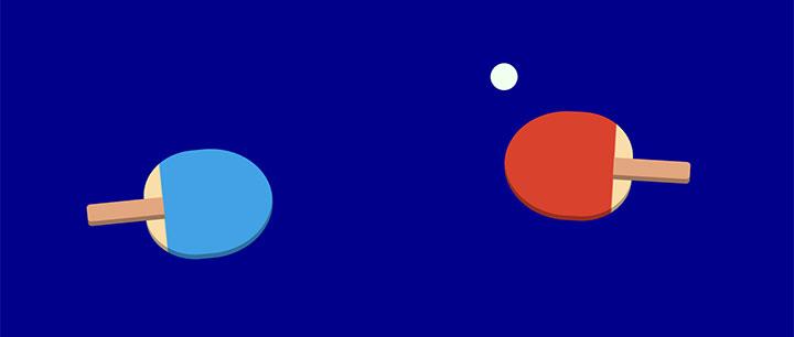 css3绘制的打乒乓球动画特效