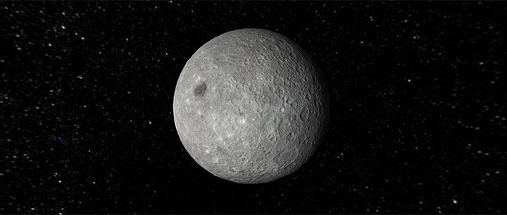 html5宇宙星空3D月球自转动画特效