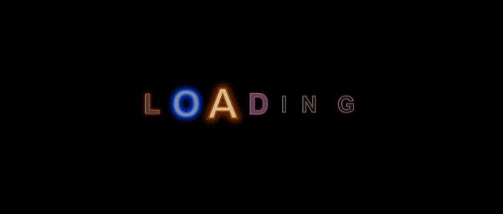 css3彩色放大缩小发光loading文字加载动画特效