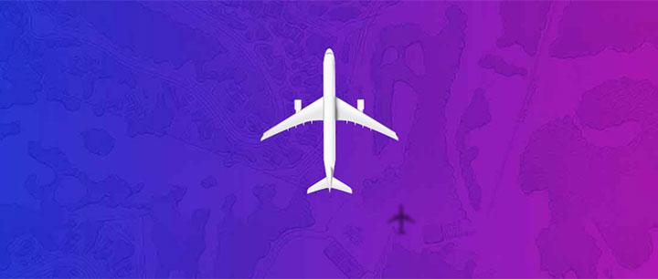 css3高空中飞机飞行交互动画特效