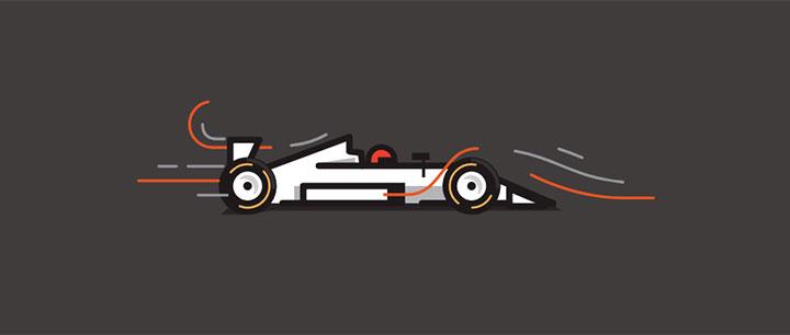 css3 svg飞速行驶的卡通赛车加载动画特效