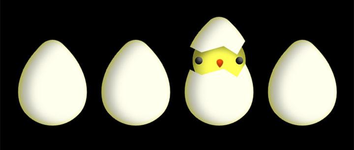 css3小鸡从鸡蛋破壳而出动画特效