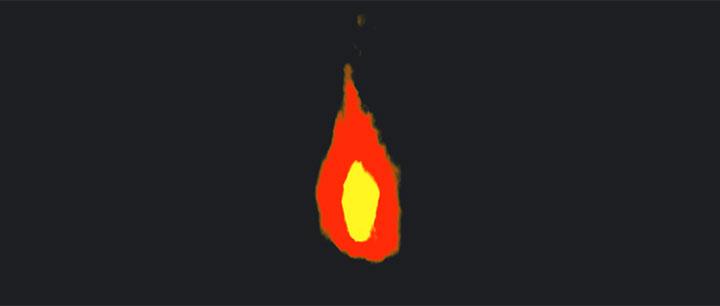 html5 canvas画布绘制燃烧的火焰动画特效