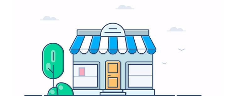 css3卡通房子店铺图形动画特效