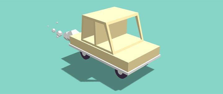 html5 canvas 3D汽车模型排放尾气动画特效
