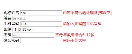 网站常用的表单验证js代码