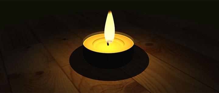 html5 3D蜡烛烛光动画特效