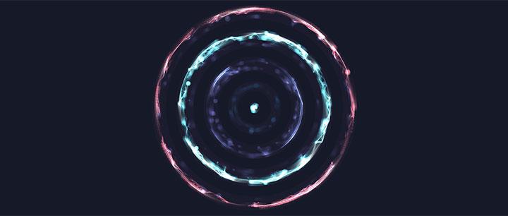 html5 canvas酷炫水晶光圈旋转动画特效