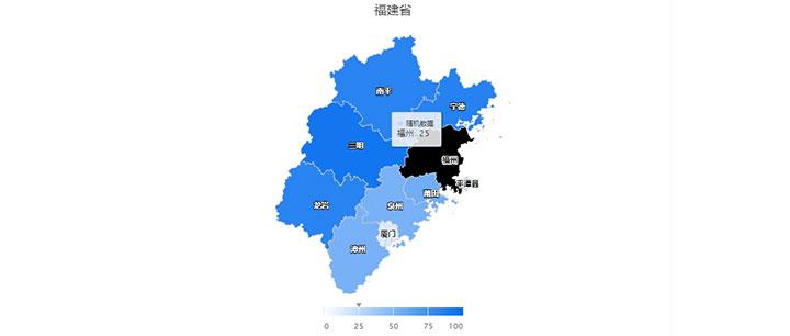 html5 svg福建省热力地图代码