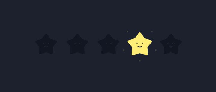 html5 svg趣味星级打分交互动画特效