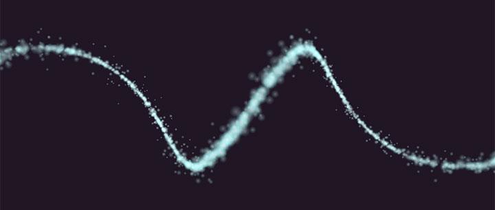 html5 canvas粒子螺旋线条动画特效