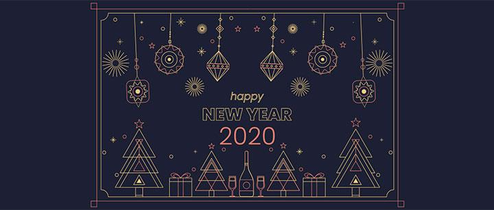 html5 svg绘制2020新年快乐主题动画特效