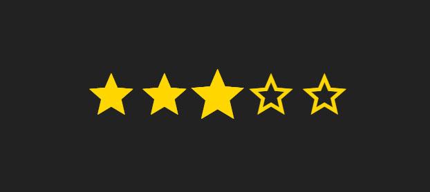 css3图标星星评级打分动画特效