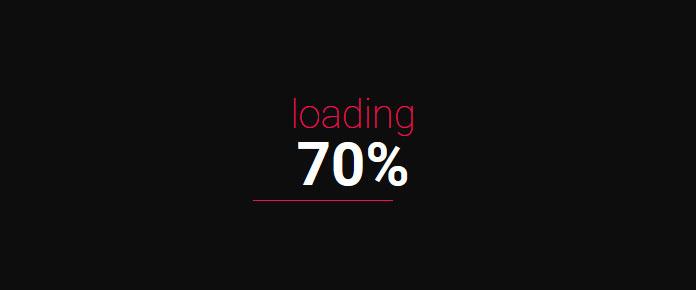 jQuery数字百分比进度条加载动画特效