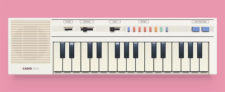 css3复古老式电子琴图形样式特效