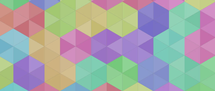 html5 canvas彩色六角菱形拼接背景图案特效