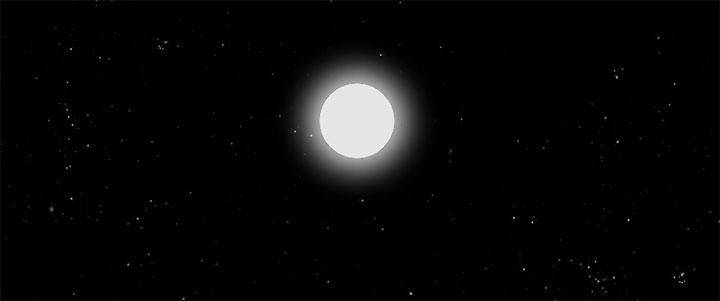 css3黑夜星空月亮发光星星闪烁动画特效