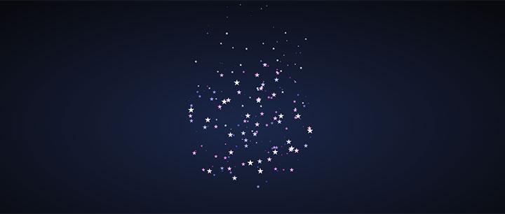 css3星星组合球形滚动动画特效