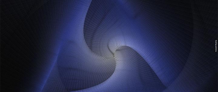 html5 canvas彩色条纹旋涡动画特效