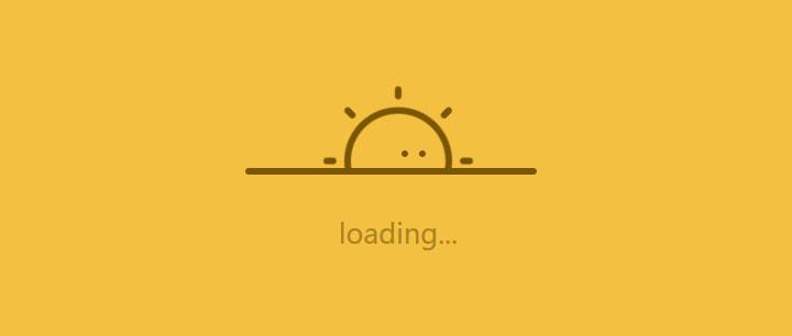 css3可爱太阳图标loading加载中动画特效