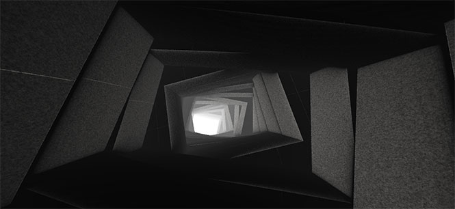 html5 webgl绘制3D洞穴穿越无限延伸动画特效