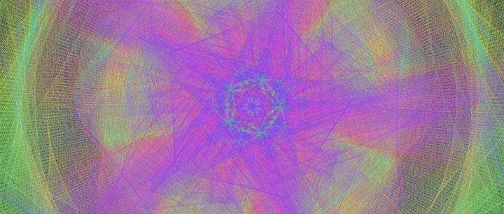 html5 canvas炫酷全屏彩色几何图形变形旋转动画特效