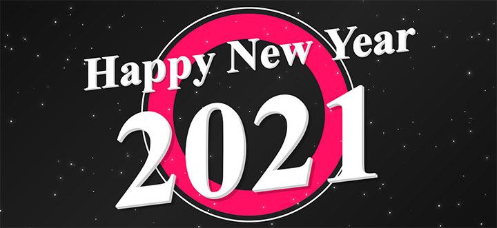 js+css3全屏2021新年快乐动画特效