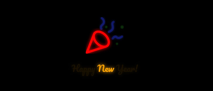 css3+html5 svg新年快乐文字和喇叭闪烁动画特效