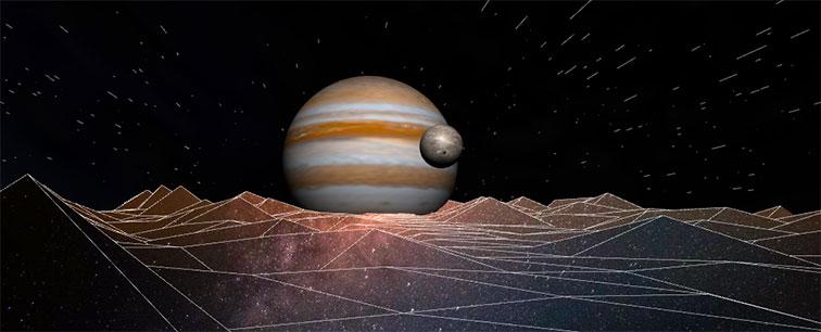 html5基于three绘制3D天体木星动画特效