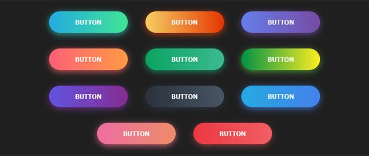 11个css3彩色渐变圆角按钮悬停动画特效