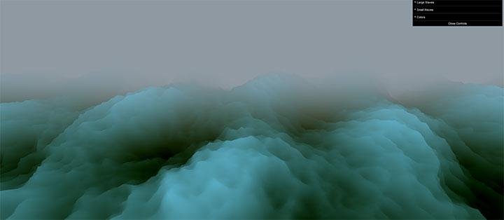 html5+webgl海上3D大波浪动画特效