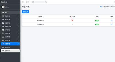PHP网站后台角色权限管理系统源码