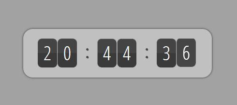 原生js配合图片滚动切换数字时钟特效