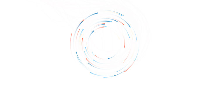 html5 canvas粒子旋转跟随鼠标光标动画特效