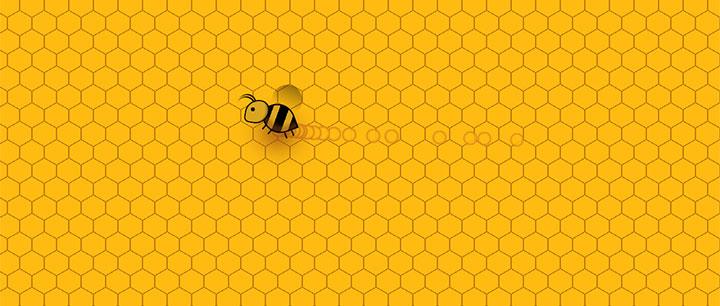 css3全屏蜂巢背景小蜜蜂鼠标指针光标动画特效