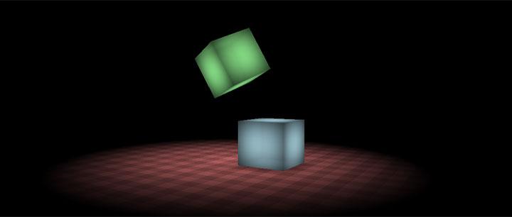 css3制作的3D立体方块弹跳动画特效