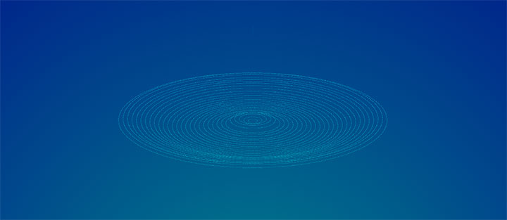 css3细线条模拟水滴波纹动画特效