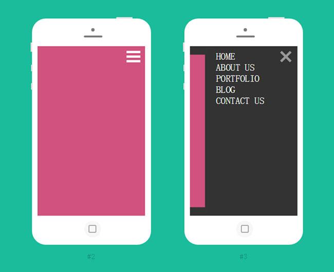 6款漂亮的html5手机导航菜单代码