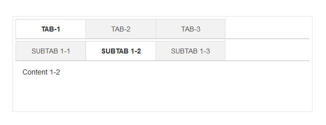 jQuery二级多级选项卡tab特效