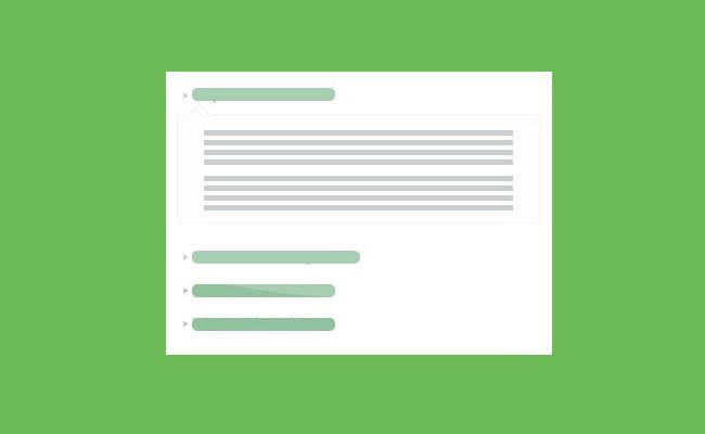 jQuery可展开收起的问答FAQs手风琴切换特效