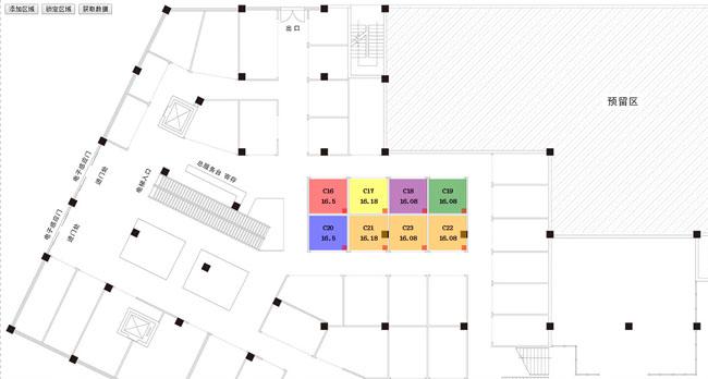 jQuery平面图区域标记拖拽移动代码