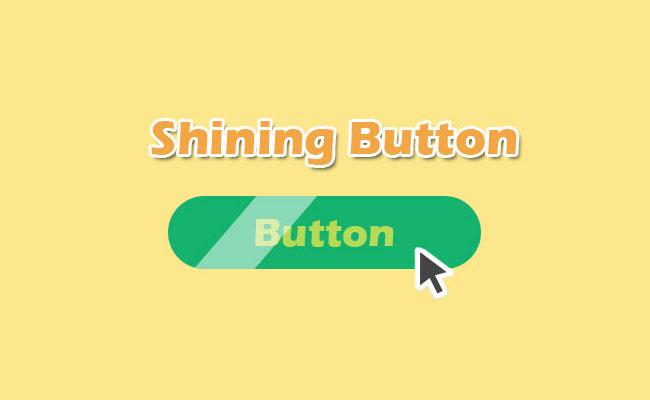 绿色CSS3鼠标滑过流光效果按钮代码