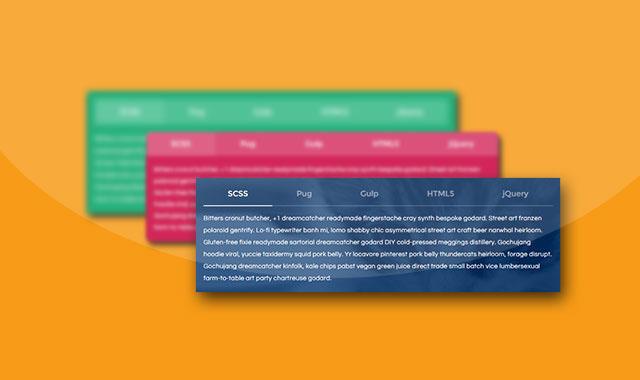 4款非常漂亮的jQuery彩色动画选项卡Tabs特效