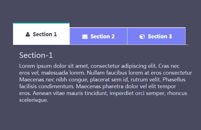 Bootstrap简单CSS3动画切换选项卡代码